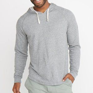 MARINE LAYER DOUBLE KNIT HOODIE, HEATHER GREY